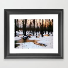 Emerging Pools Framed Art Print