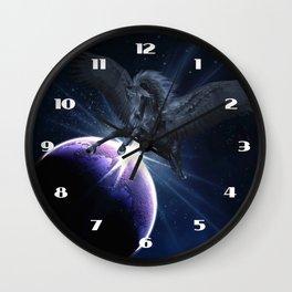 Black Pegasus Wall Clock