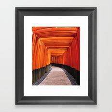Thousand Torii Gates Framed Art Print