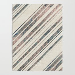 Marble Look Diagonal Stripes Poster
