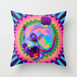 Prismatic Panda  Throw Pillow