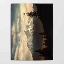 Mount Shasta Waking Up Poster