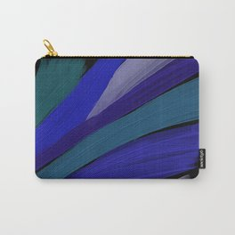 Blue and Black abstract print - Butterfly wing Carry-All Pouch