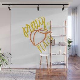 Southern Sayings- Pretty as a Peach Wall Mural