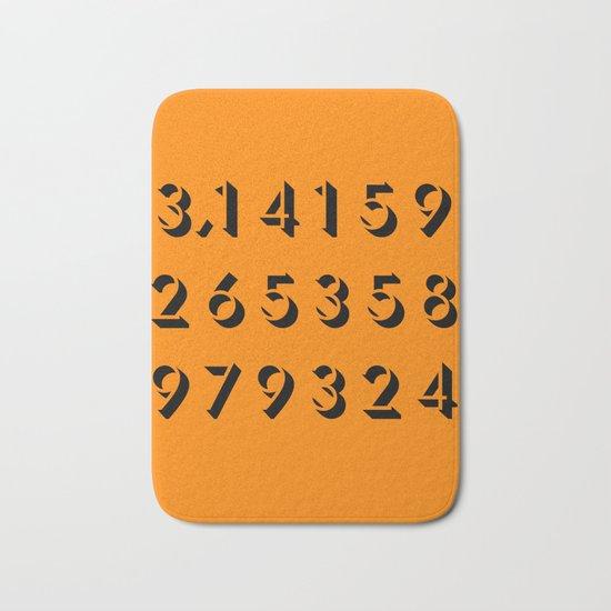 Pi - 3,14 -Orange Bath Mat