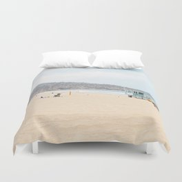 Redondo Beach // California Ocean Vibes Lifeguard Hut Surfing Sandy Beaches Summer Tanning Duvet Cover