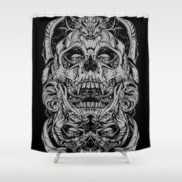 2 FACES SKULL Shower Curtain