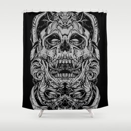 2 FACES SKULL Shower Curtain