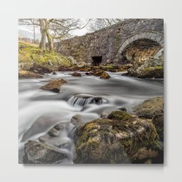 River Ogwen Bridge Metal Print