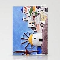 greek Stationery Cards featuring Greek island by Brian Raggatt