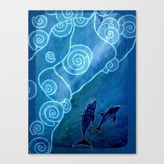 MELUSINA SEA DOLPHINS Canvas Print
