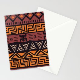 Tribal ethnic geometric pattern 021 Stationery Cards
