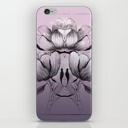 Purple bloom of Magnolia iPhone Skin