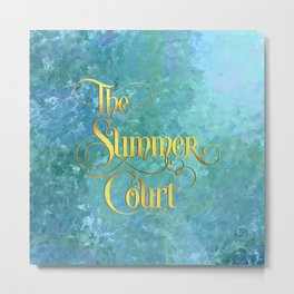 The Summer Court Metal Print