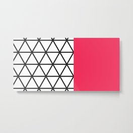 Pink Isodyctial Metal Print