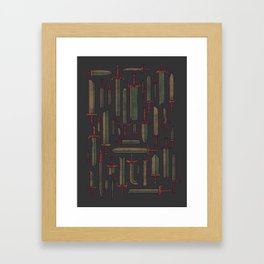 Bunch of Blades Framed Art Print