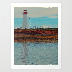 Lighthouse Travels in Time Art Print