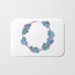 Succulent Wreath Bath Mat