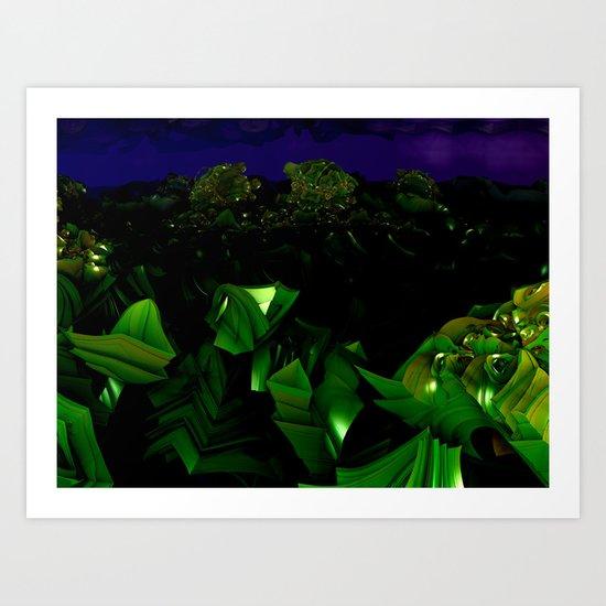 garden at midnight Art Print