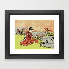 Transformation of Kikujido - Vintage Japanese Woodblock Framed Art Print