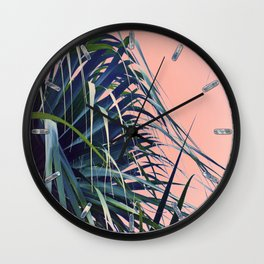 Feather Palm Wall Clock