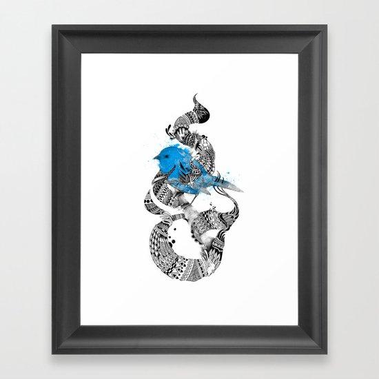 Tweet Your Art. Framed Art Print
