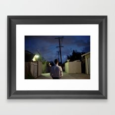 man out of time Framed Art Print