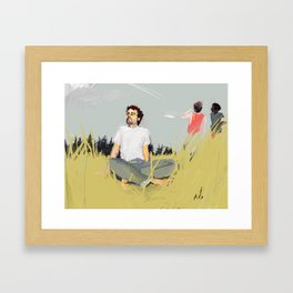 while they watched the planes Framed Art Print
