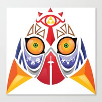 majora Canvas Prints featuring Majora Color by CrodriguezArt