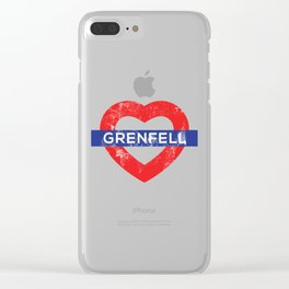 Grenfel tower Clear iPhone Case