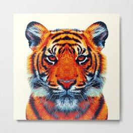 Tiger - Colorful Animals Metal Print