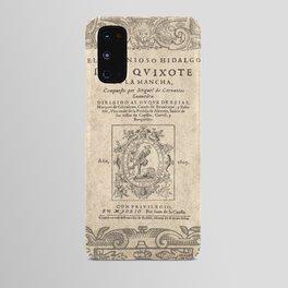 Cervantes. Don Quijote, 1605. Android Case