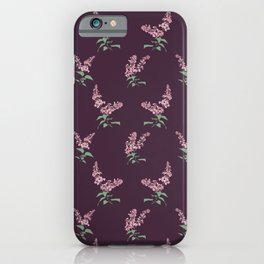 Lilac Flowers Spring Pattern iPhone Case