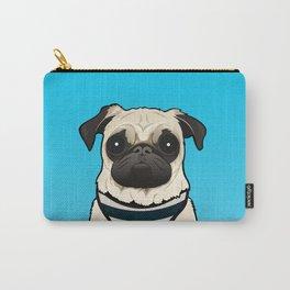 Doug the Pug - Blue BG Carry-All Pouch