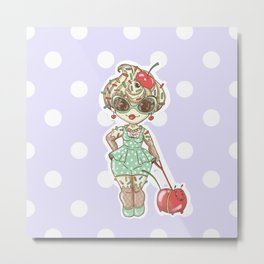 Cherry Sundae, Ice Cream Girl. Living in a sweet sweet world. Metal Print