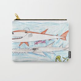 Megamouth Shark & Queensland Sawfish Carry-All Pouch