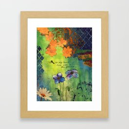 The Key To My Heart Framed Art Print