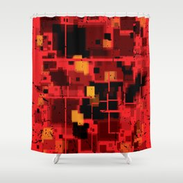 Abstract Composition #4 Shower Curtain
