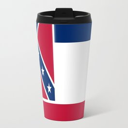 Flag of mississippi-flag of mississippi,south,Mississippian,usa, america,jackson,gulfport,Southaven Travel Mug