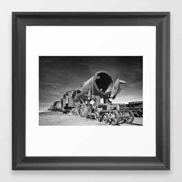 train graveyard Framed Art Print