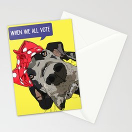 Political Pups - When We All Vote Great Dane Stationery Cards