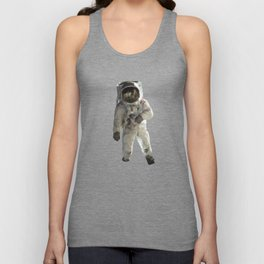Astronaut Low Poly Unisex Tank Top