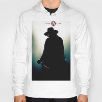 vendetta Hoodies featuring V for Vendetta (e4) by Ezgi Kaya