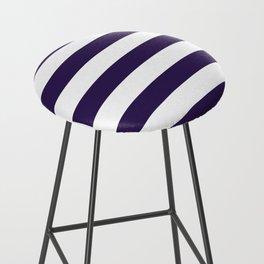 dark purple stripes Bar Stool