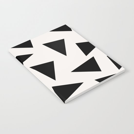 black triangle pattern II Notebook