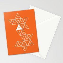 Orange Unrolled D20 Stationery Cards