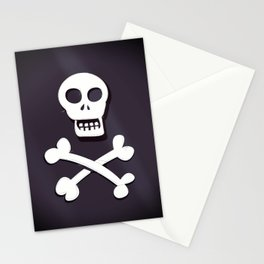Pirate Skull and crossbones flag Stationery Cards