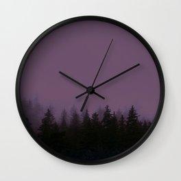 Alaska Fog 0388, EggPlant Wall Clock