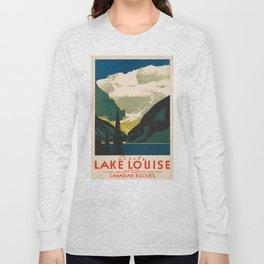 Lovely Lake Louise vintage travel ad Long Sleeve T-shirt