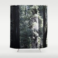 smoking Shower Curtains featuring Smoking Tee by Cameron Schroeder